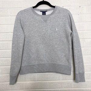 Ralph Lauren Sport Fleece Crewneck Sweatshirt Gray